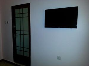 flat screen tv at wayside hotel arusha tanzania
