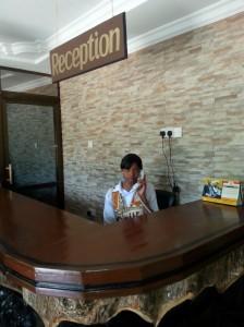 wayside hotel arusha reception lady